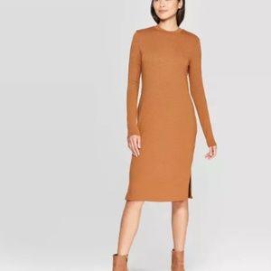 Prologue, Long Sleeve Knit Midi Dress, Size Small